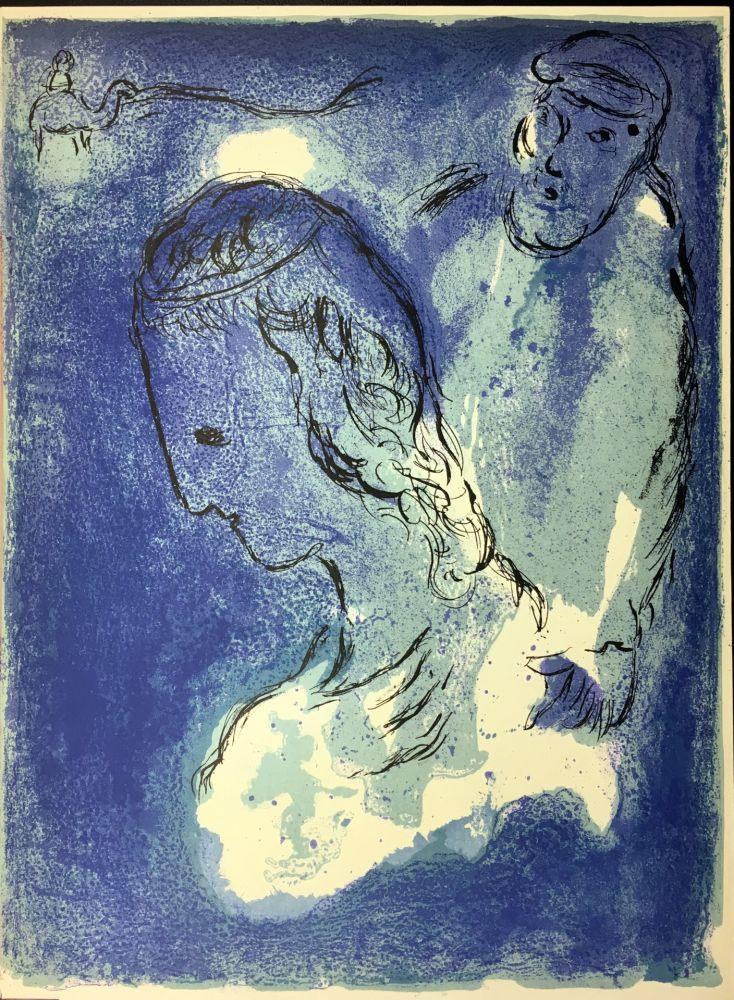Aucune Technique Chagall - ABRAHAM ET SARAH. Lithographie originale pour LA BIBLE