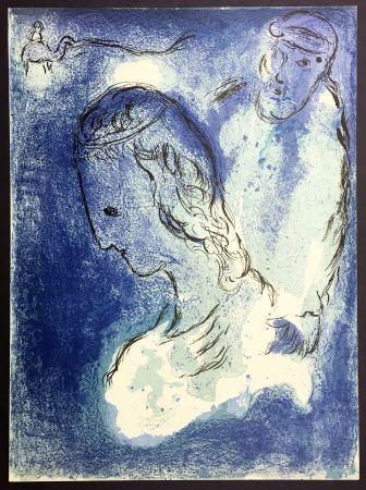 Lithographie Chagall - ABRAHAM ET SARAH. Lithographie originale pour LA BIBLE