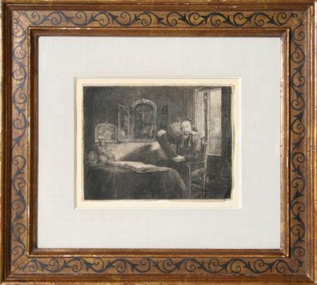 Gravure Rembrandt - Abraham Francen, apothecary