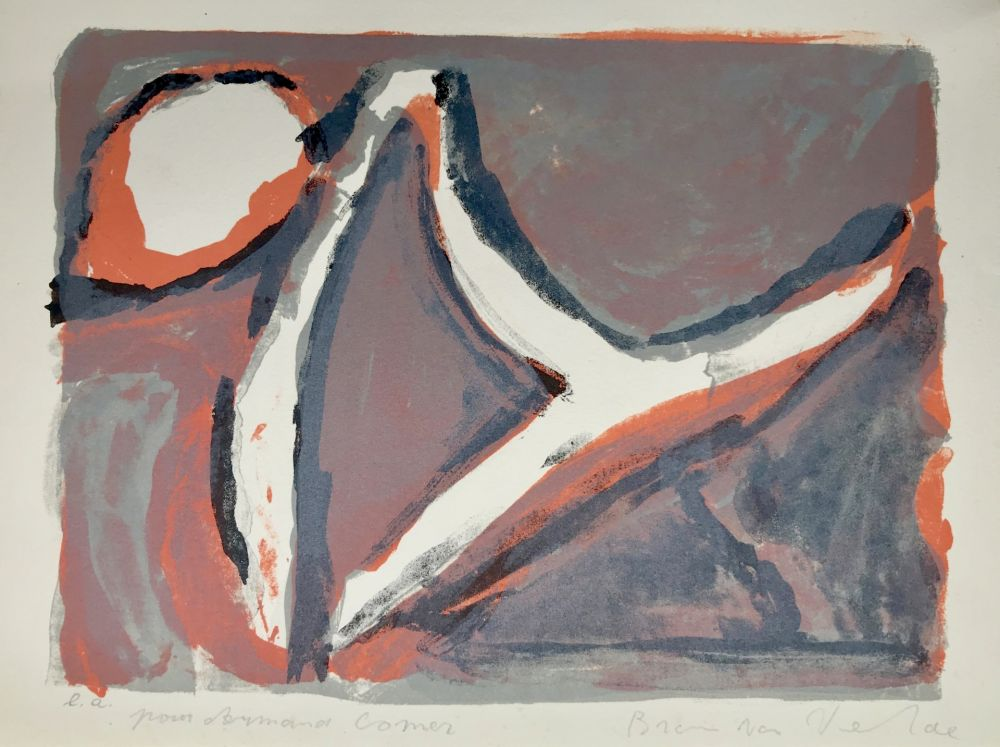 Lithographie Van Velde - Abstract