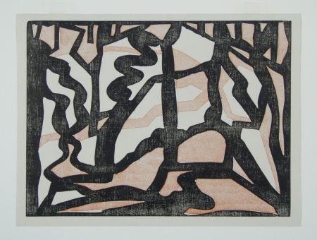Gravure Sur Bois Heemskerck,  - Abstract Composition