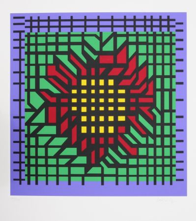 Sérigraphie Vasarely - Abstract Composition