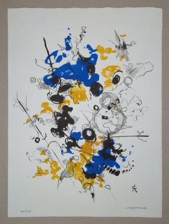 Lithographie Cavael - Abstrakte Komposition