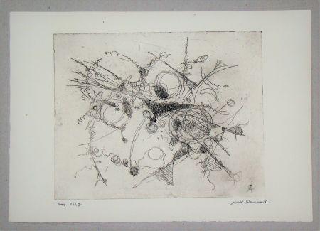 Eau-Forte Cavael - Abstrakte Komposition
