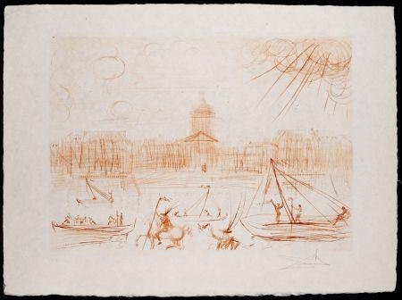 Gravure Dali - Académie des Beaux-Arts. (Institut de France)