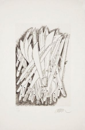 Pointe-Sèche Arman - Accumulation de sabres