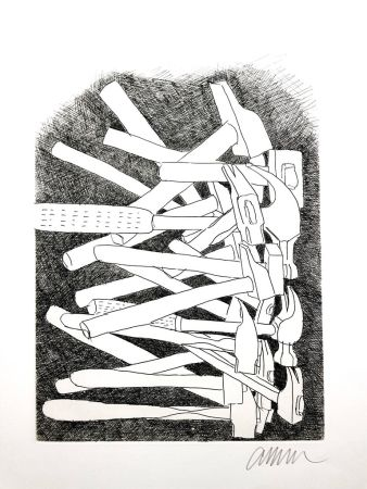 Lithographie Arman - Accumulations