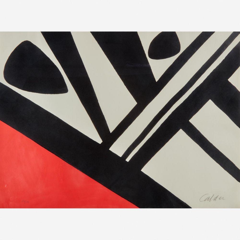 Lithographie Calder - Acier du Constructeur