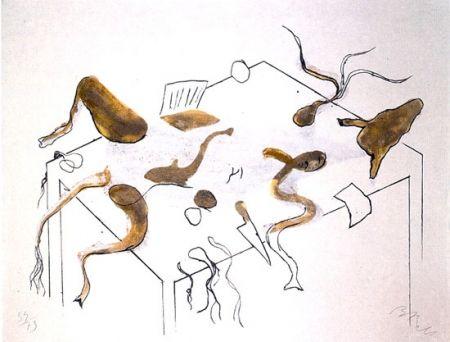 Lithographie Barcelo - ACRÓSTICO DE ASNO IV