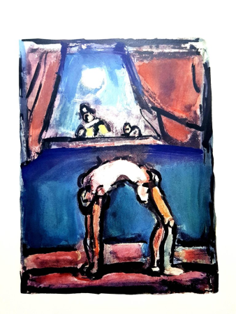 Lithographie Rouault (After) - Acrobate
