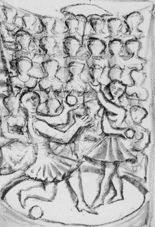 Lithographie Campigli - Acrobati