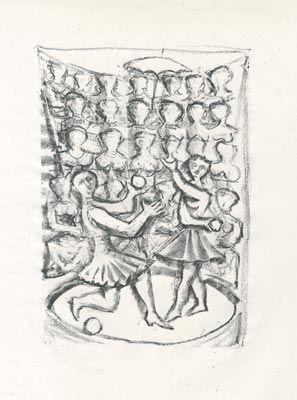 Lithographie Campigli - Acrobati (Theseus)