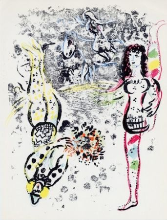 Lithographie Chagall - Acrobats At Play