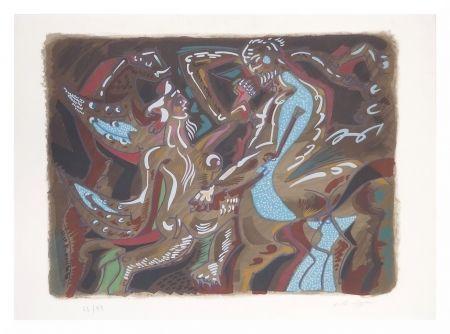 Lithographie Masson - Adam Et Eve