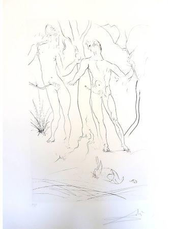Gravure Dali - Adam et Eve