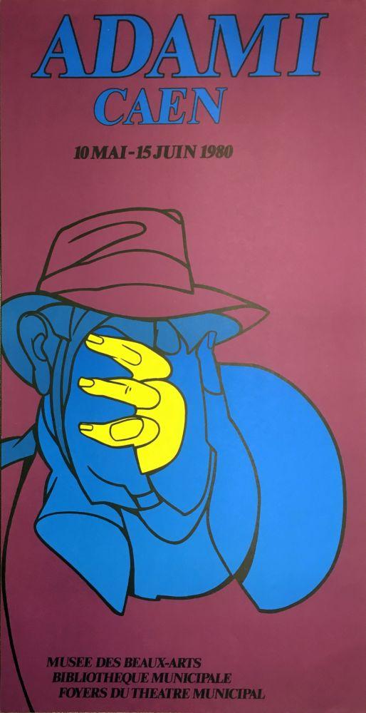 Lithographie Adami - ADAMI CAEN 1980 : Affiche en lithographie originale.