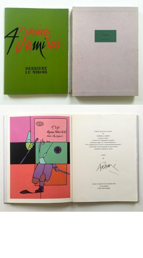 Livre Illustré Adami - ADAMI. Derrière le Miroir n° 206. Nov. 1973. TIRAGE DE LUXE SIGNÉ.