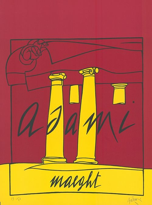 Lithographie Adami - Adami /  Maeght