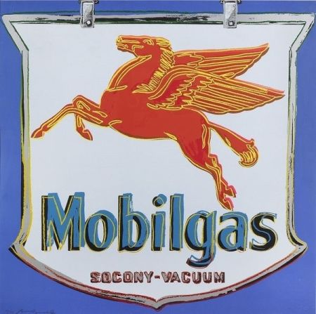 Sérigraphie Warhol - Ads: Mobilgas