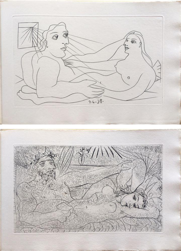 Livre Illustré Picasso - AFAT. Soixante-seize sonnets (1939).