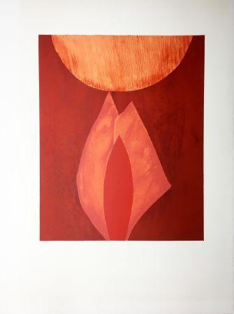 Lithographie Bazaine - AFF AVT MAM (BLASONS). Lithographie originale de 1975.