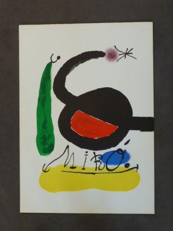 Lithographie Miró - Affiche avant la lettre pour DLM 164/165