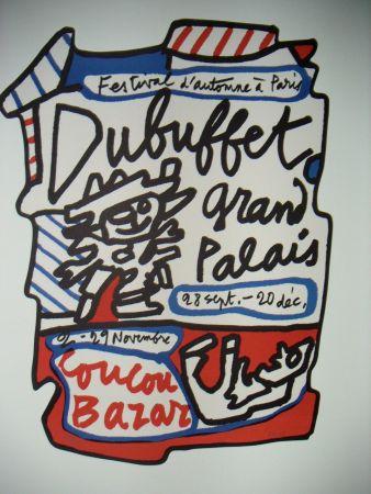 Lithographie Dubuffet - Affiche Coucou Bazar