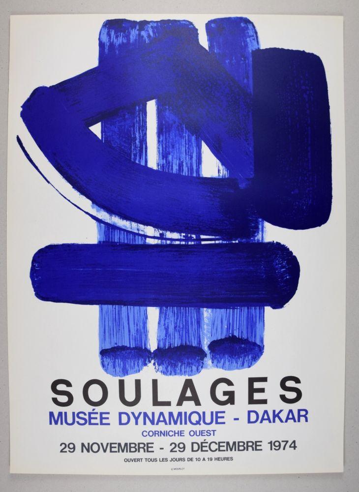 Lithographie Soulages - AFFICHE DAKAR