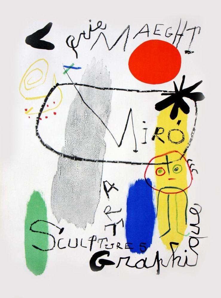 Lithographie Miró - Affiche d'Exposition Galerie Maeght