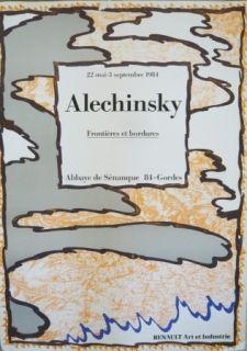 Affiche Alechinsky - Affiche exposition Abbaye de Sénanque