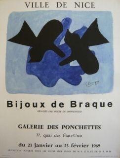 Affiche Braque - Affiche exposition Bijoux de Braque