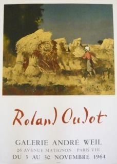 Affiche Oudot - Affiche exposition galerie André Weil