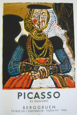 Affiche Picasso - Affiche exposition galerie Berggruen Mourlot
