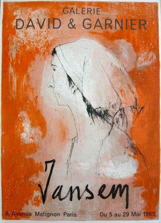 Affiche Jansem - Affiche exposition galerie David & Garnier