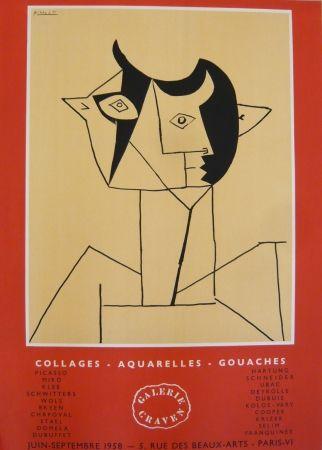 Affiche Picasso - Affiche exposition galerie Graven