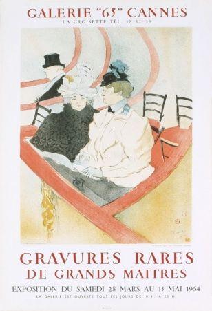 Lithographie Toulouse-Lautrec - Affiche exposition Mourlot 1964
