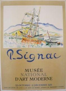 Affiche Signac - Affiche exposition Musée d'art moderne