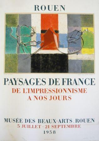 Lithographie Villon - Affiche exposition Musée des Beaux-Arts de Rouen