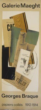 Affiche Braque - Affiche exposition papiers collés galerie Maeght
