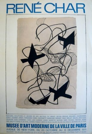 Affiche Braque - Affiche exposition René Char