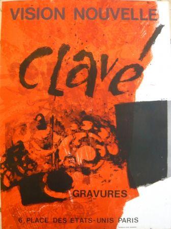 Affiche Clavé - Affiche exposition Vision nouvelle
