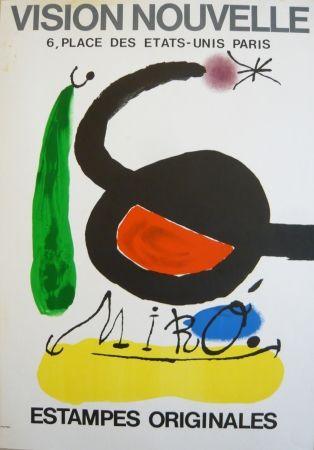 Affiche Miró - Affiche exposition Vision nouvelle