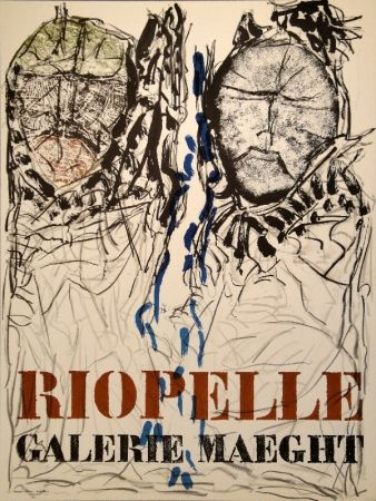 Affiche Riopelle - Affiche Galerie Maeght