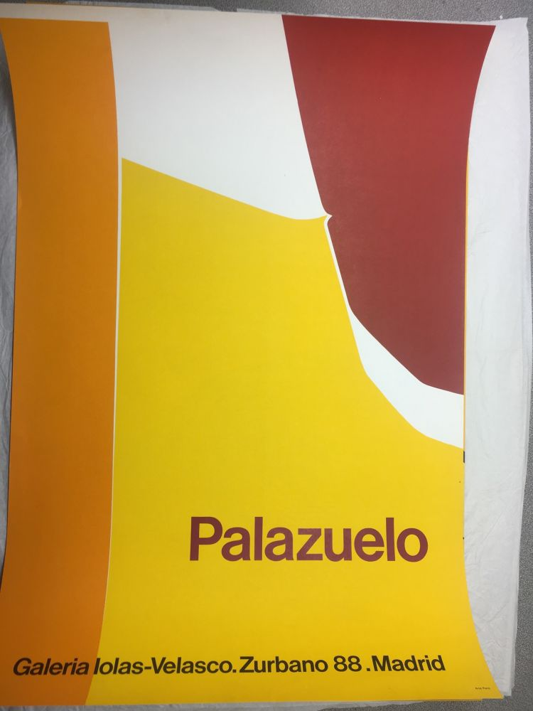 Affiche Palazuelo - Affiche lithographique originale de la Galeria Iolas-Velasco, Madrid. Maeght 1963.