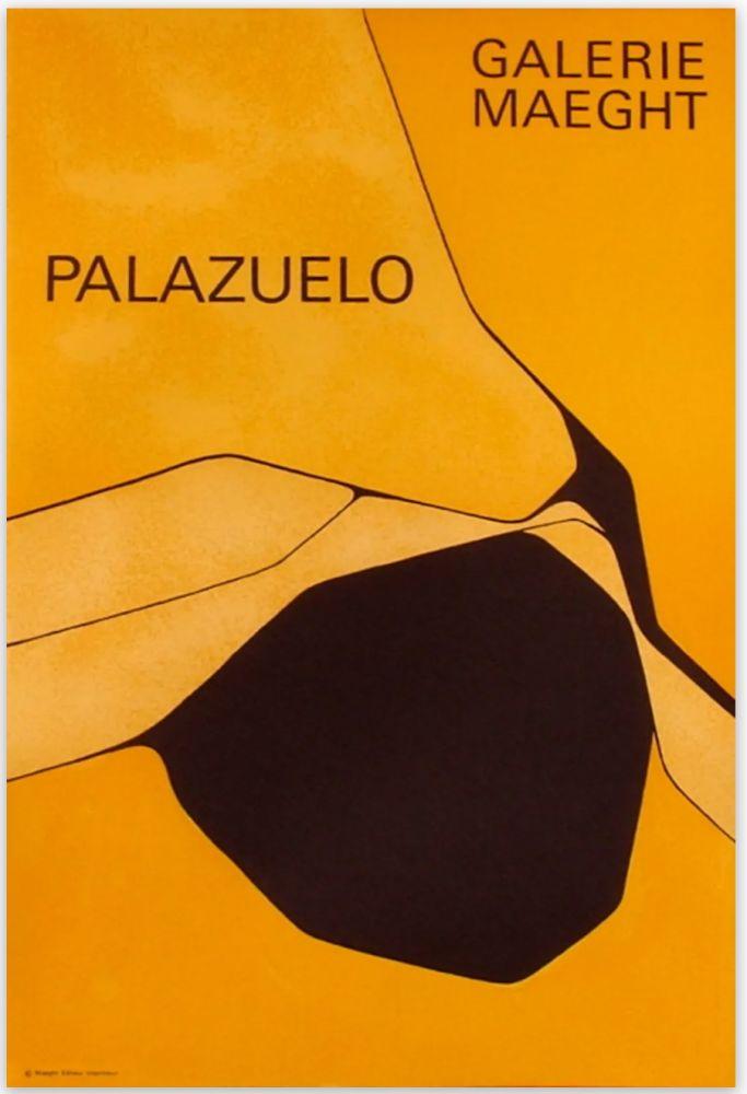 Affiche Palazuelo - Affiche lithographique originale de la Galerie Maeght 1963.