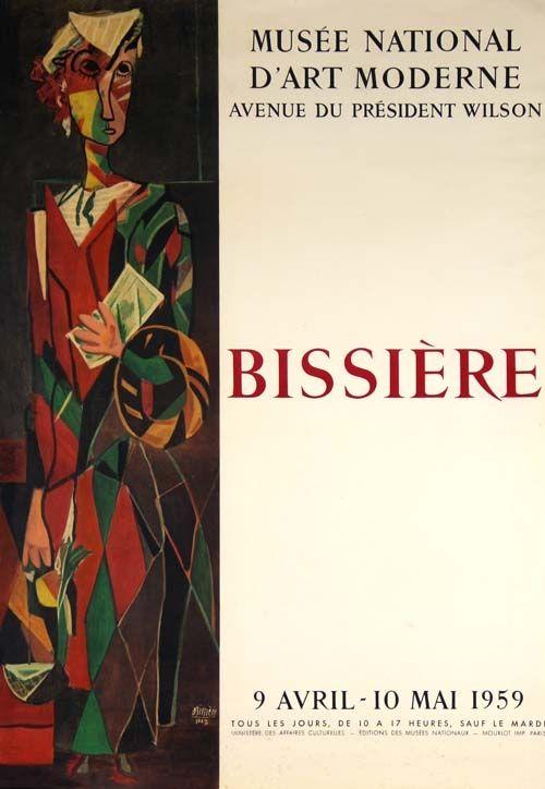 Lithographie Bissiere - Affiche Musee D'art Moderne de Paris
