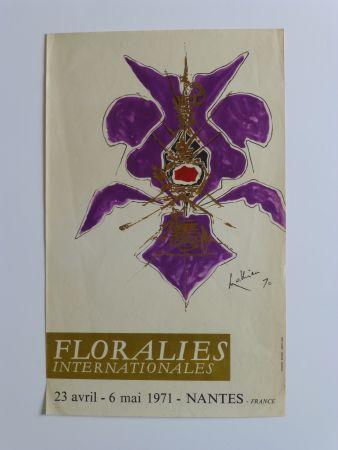 Affiche Mathieu - Affiche pour les floralies de Nantes 1971