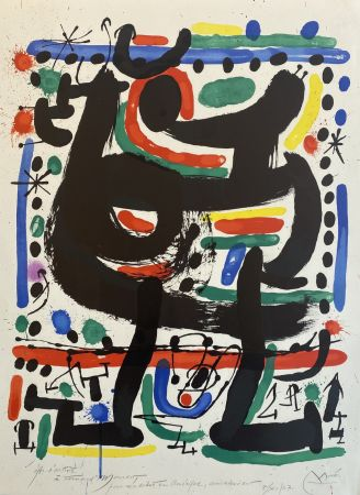 Lithographie Miró - Affiche pour Mourlot