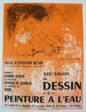 affiche de jean jansem affiche salon du dessin et de la