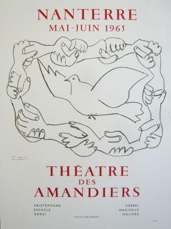 Affiche Picasso - Affiche théâtre des Amandiers